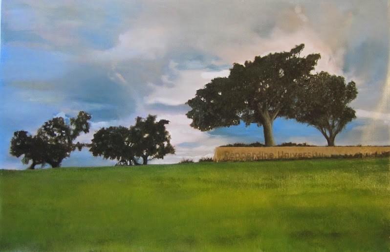 """Pepperdine Skyline"" original fine art by Karen Stitt"