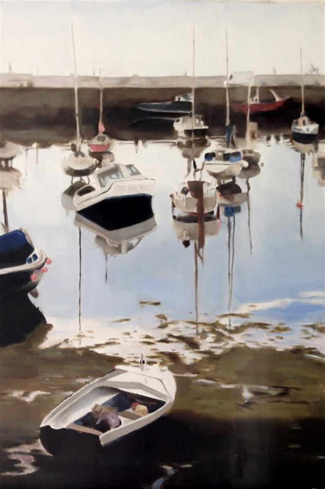 """Penzance Harbour"" original fine art by James Coates"