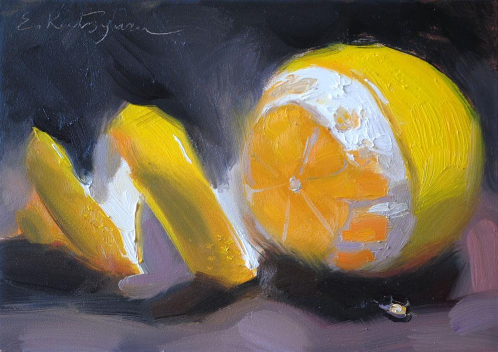 """Lemon II"" original fine art by Elena Katsyura"