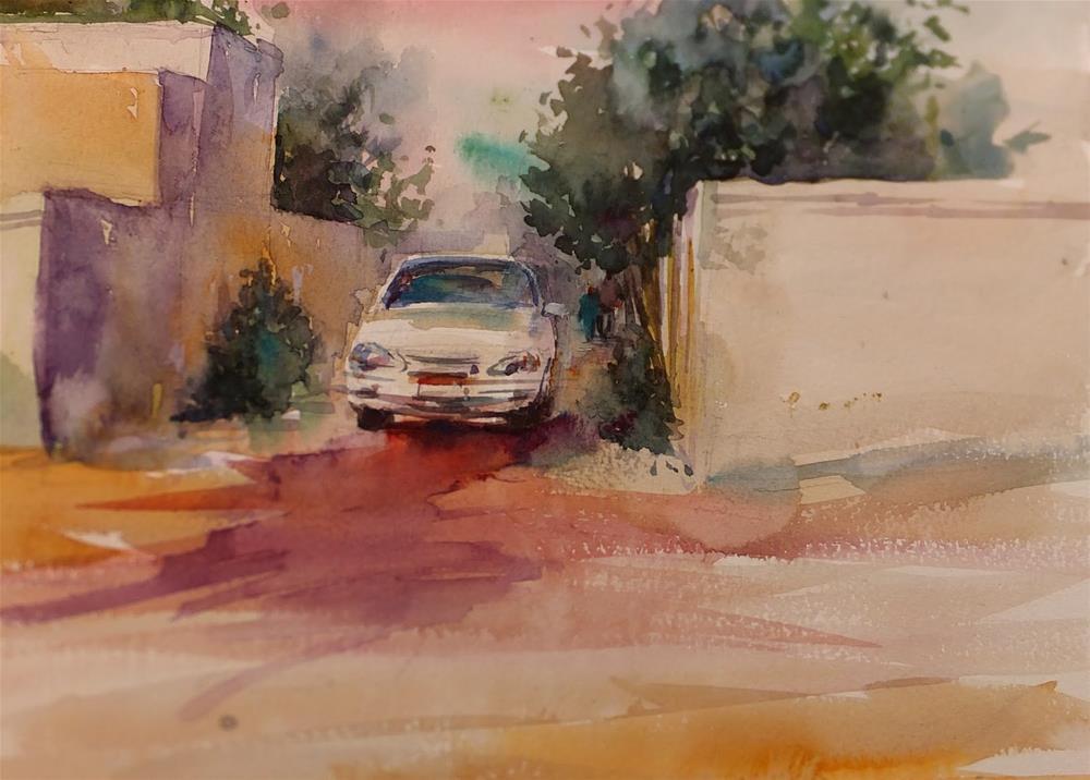 """""""A morning in Garden city"""" original fine art by Midori Yoshino"""