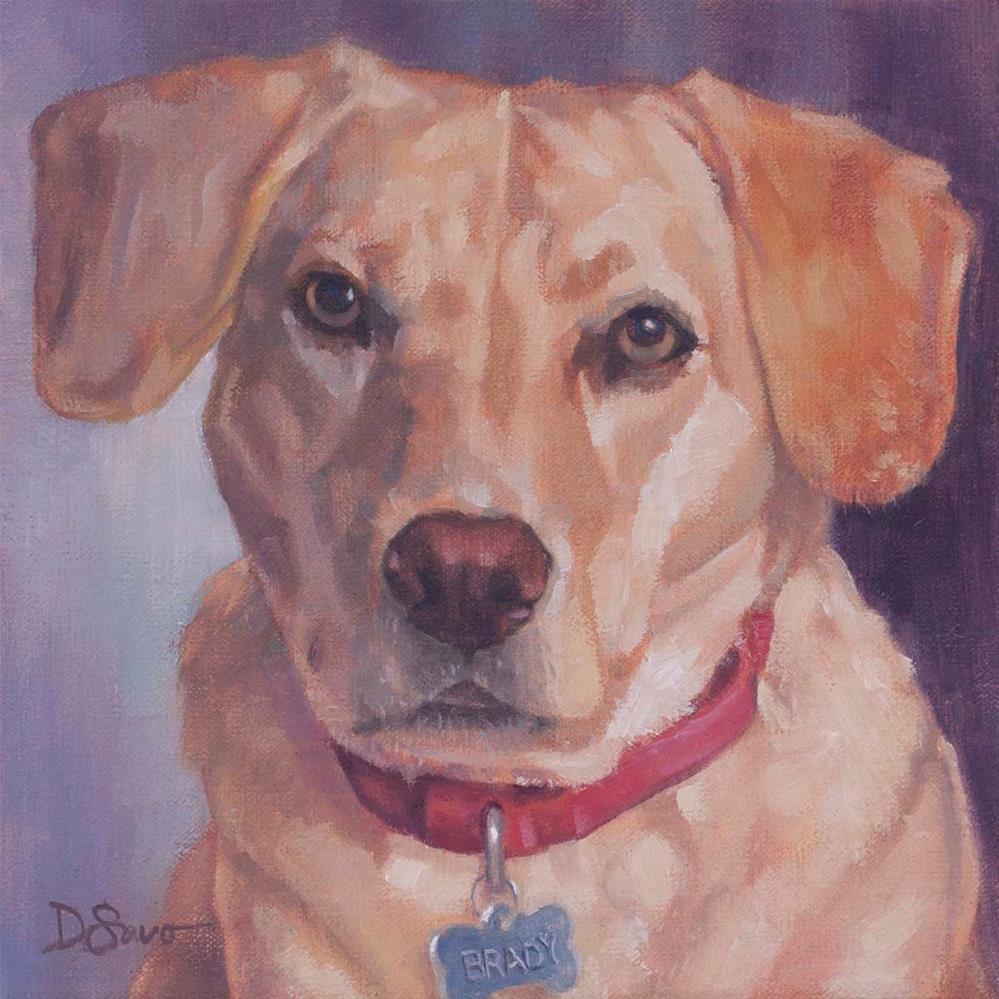 """Brady"" original fine art by Deborah Savo"