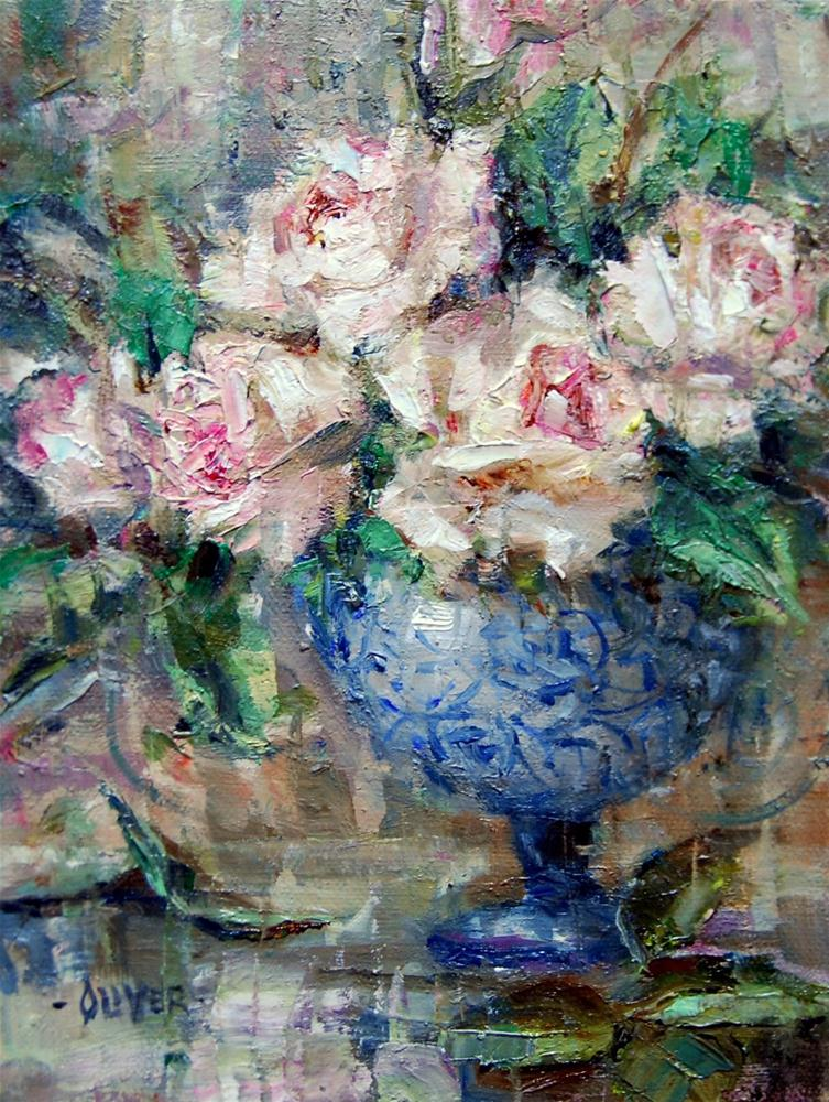 """Happy New Year Roses"" original fine art by Julie Ford Oliver"