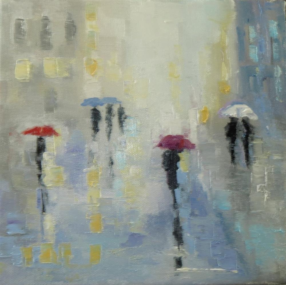 """umbrellas"" original fine art by Astrid Buchhammer"