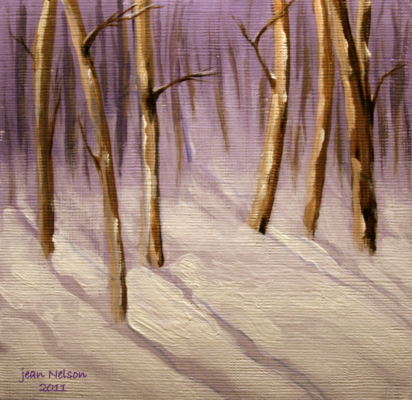 """The Little Woods in Winter"" original fine art by Jean Nelson"