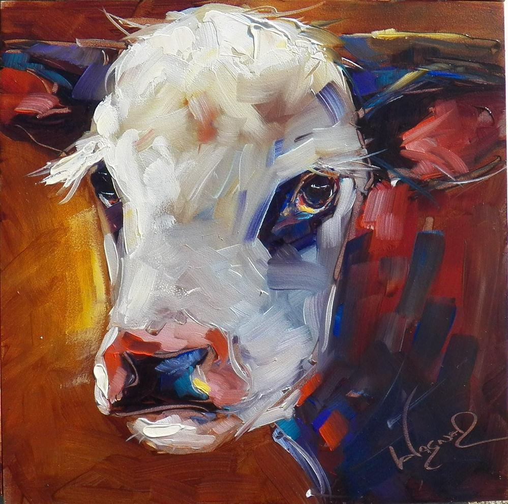 """ORIGINAL COW PAINTING in OILS by OLGA WAGNER"" original fine art by Olga Wagner"