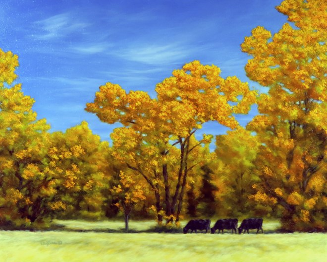 """Gold Country"" original fine art by Carol Zirkle"