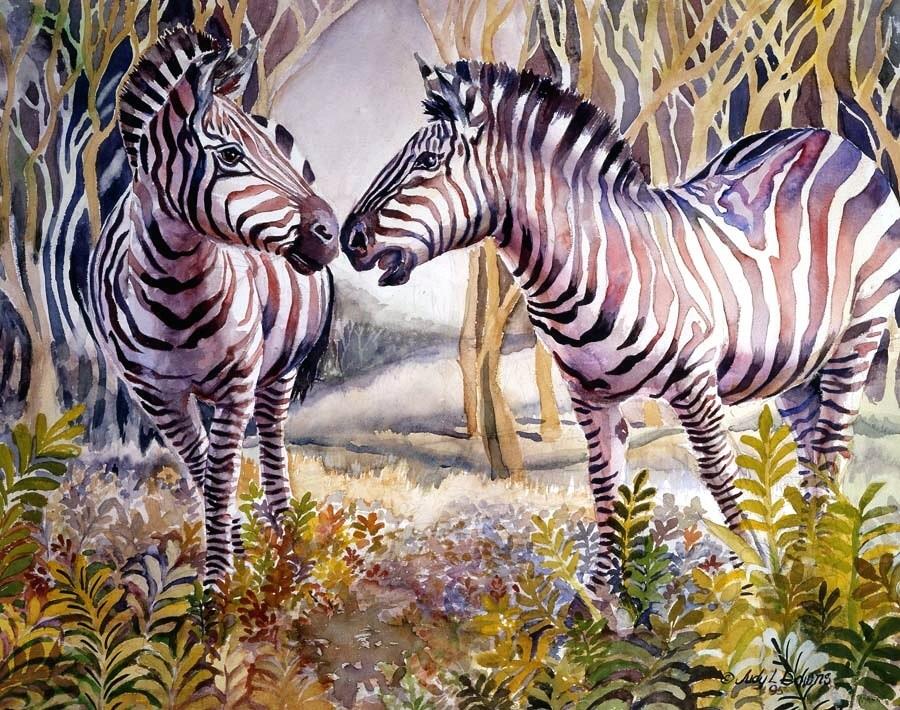 """Punda Milia two"" original fine art by Judy Downs"