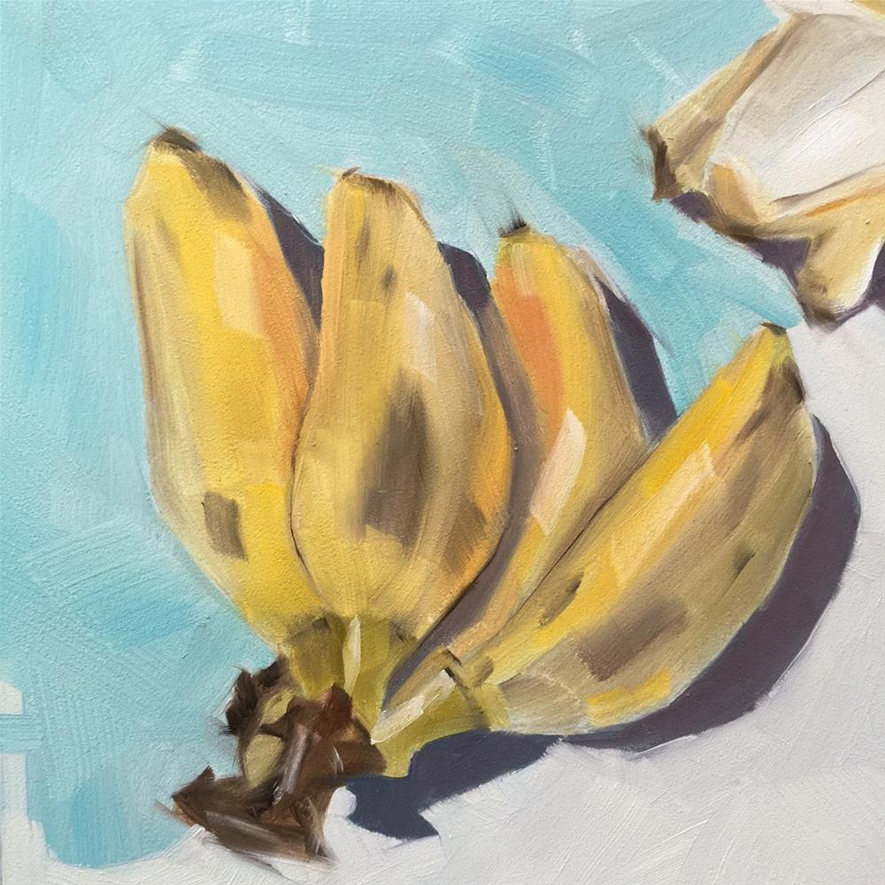 """228 Baby Bananas"" original fine art by Jenny Doh"