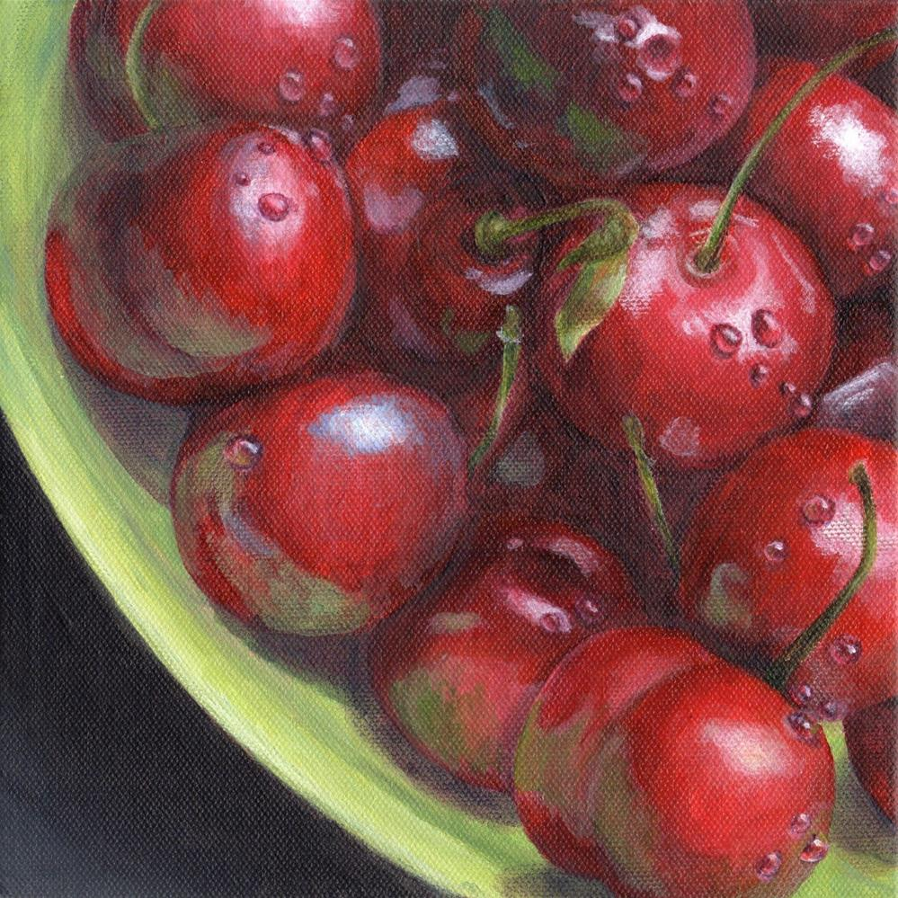 """Cherry Fresh"" original fine art by Debbie Shirley"