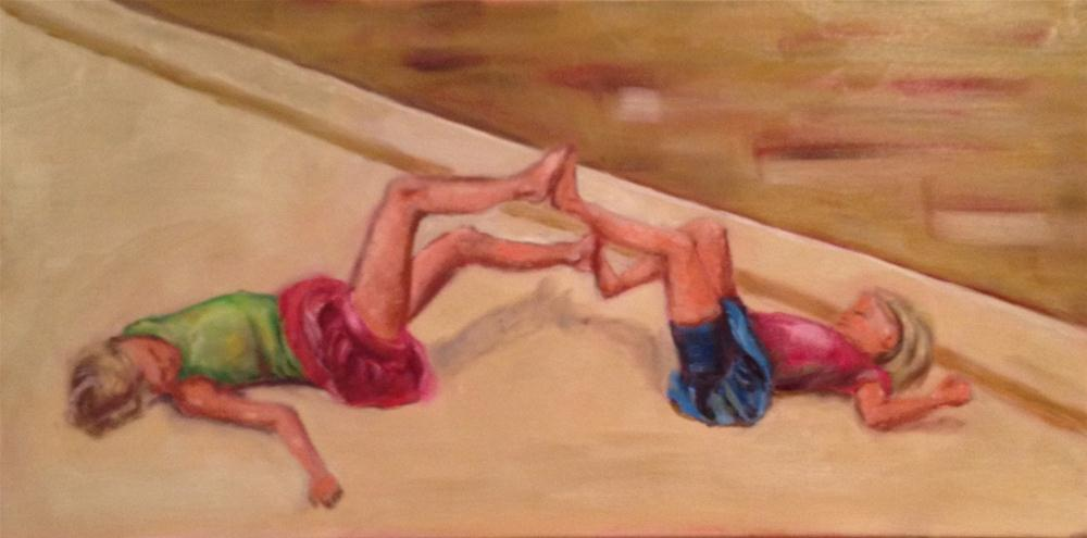Child's Play - Fun and Games original fine art by Maria Bennett Hock