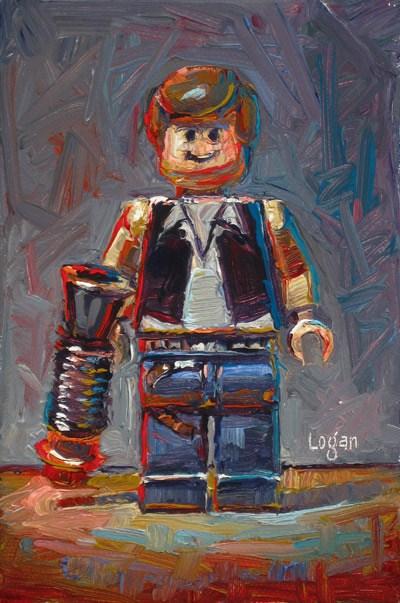 """""""LEGO Star Wars Han Solo"""" original fine art by Raymond Logan"""