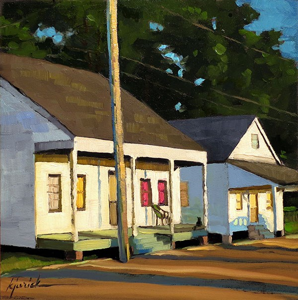 """Humble Abodes"" original fine art by Karin Jurick"