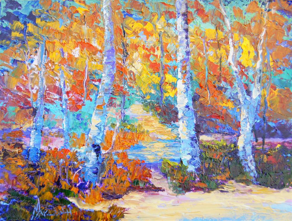 """Forest Twilight"" original fine art by Marion Hedger"