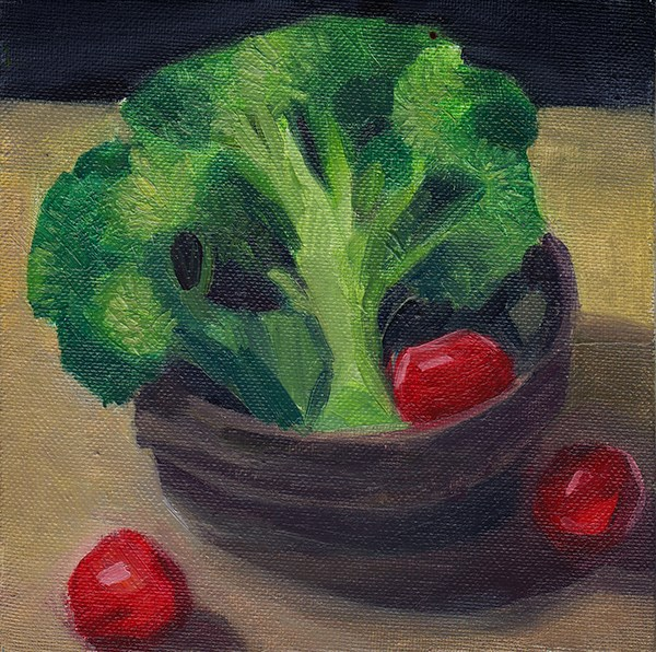 """Broccoli"" original fine art by J M Needham"