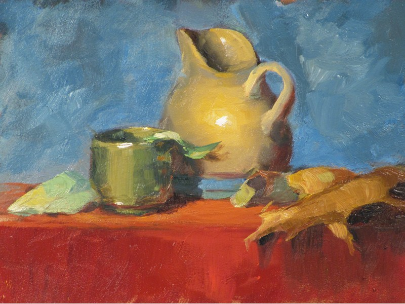 """Creamer and sake cup"" original fine art by Dave Froude"