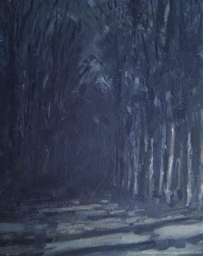 """Moonpath Doetinchem, The Netherlands"" original fine art by René PleinAir"