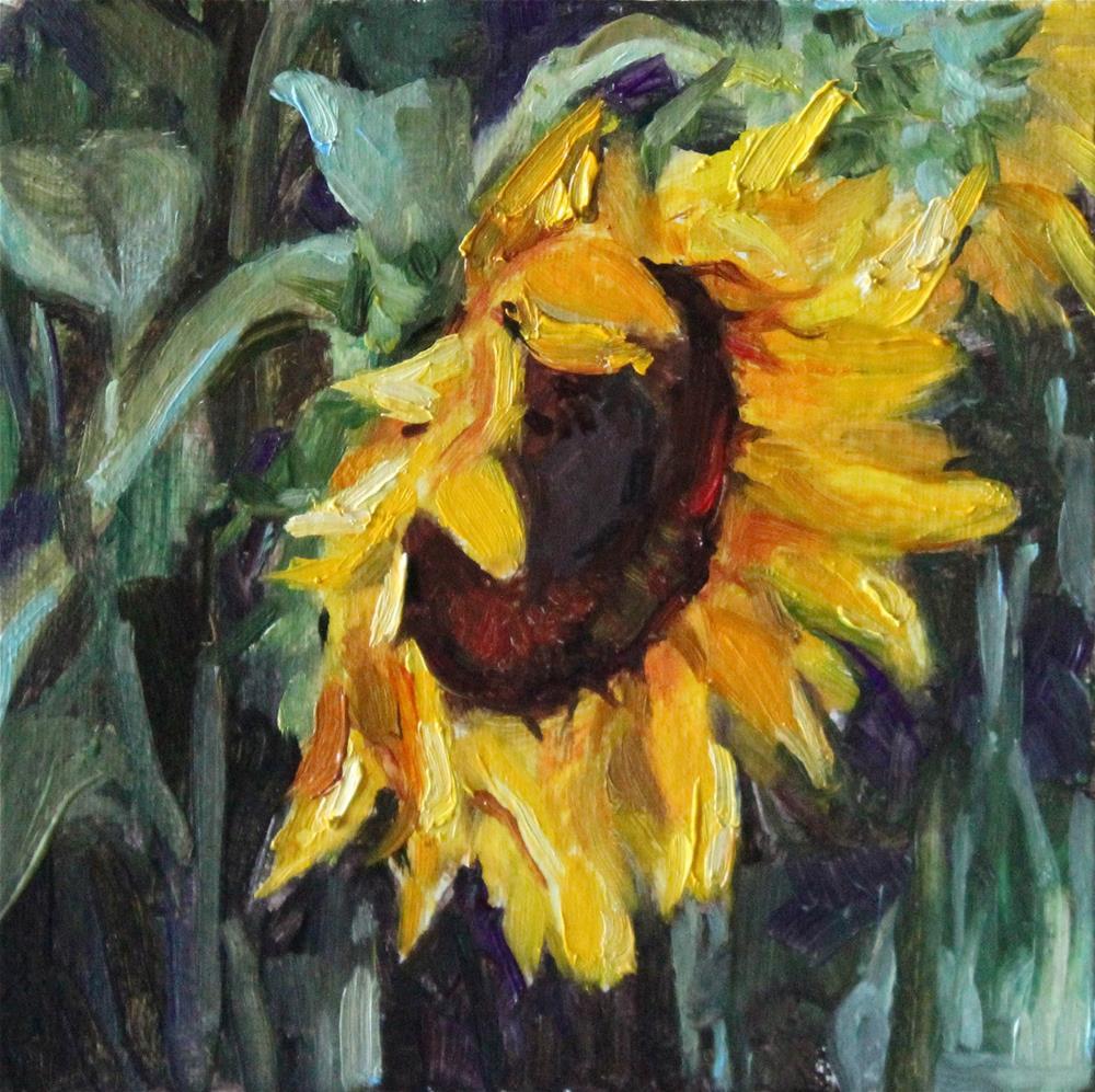 """Sunflower"" original fine art by Neringa Maxwell"