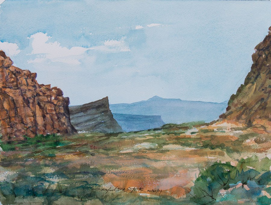 """Snow Canyon, Utah"" original fine art by Rafael DeSoto Jr."