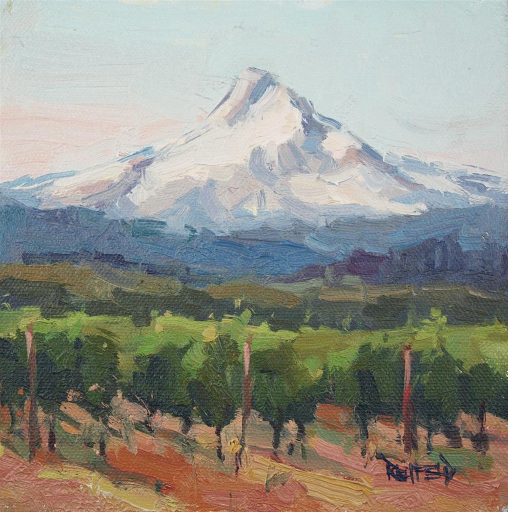 """Morning In The Vineyard"" original fine art by Cathleen Rehfeld"
