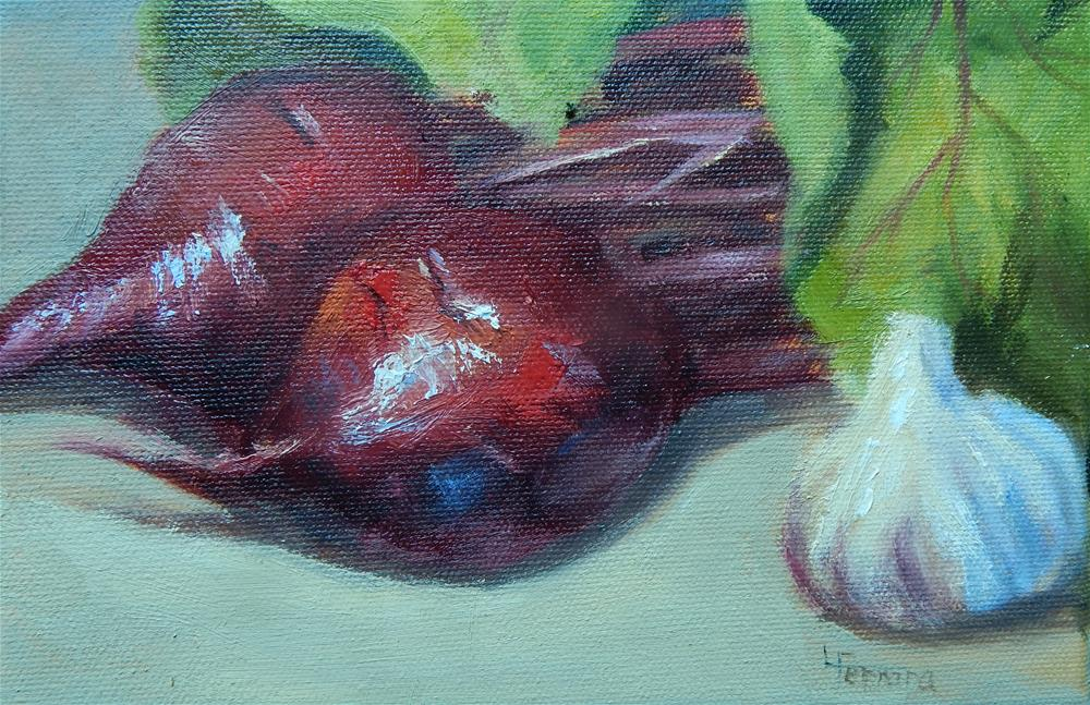 """Red Beets"" original fine art by Lina Ferrara"