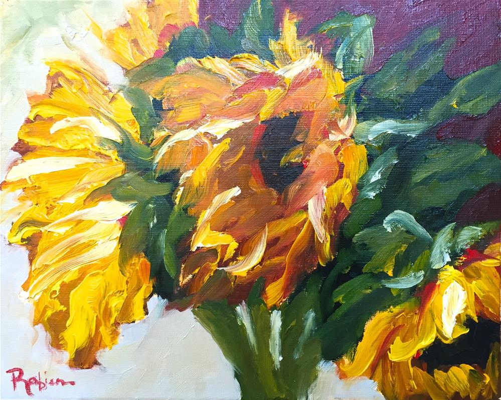 """Sunflower Power"" original fine art by Renee Robison"
