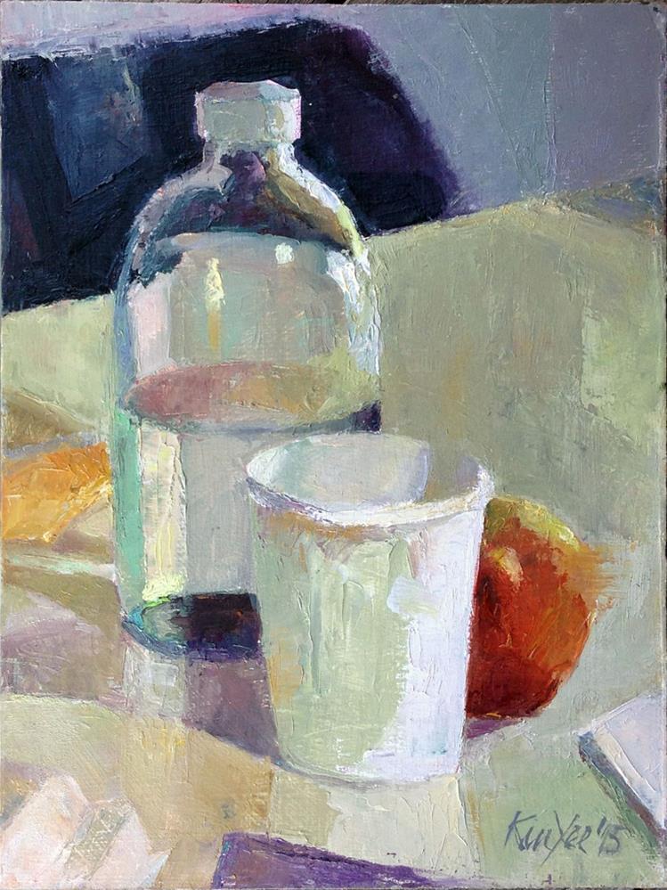 """""""Painting Break"""" original fine art by Myriam Kin-Yee"""