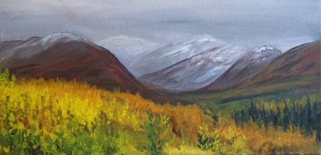 """Fall Aspens North Canol"" original fine art by Jackie Irvine"