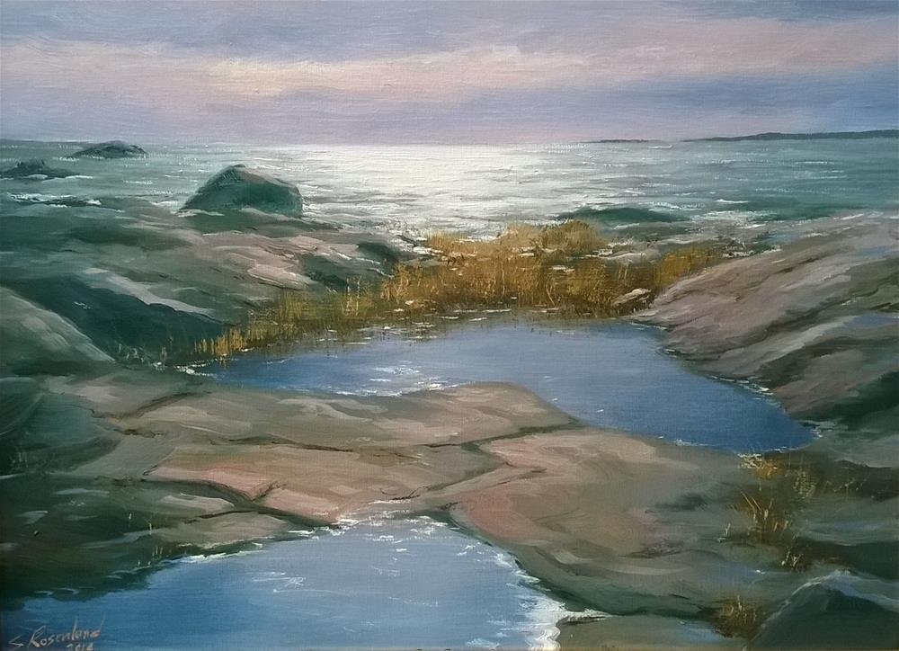 """Late afternoon by the sea"" original fine art by Stig Rosenlund"