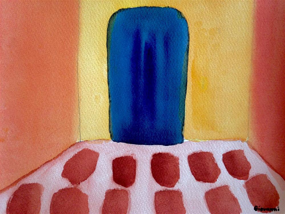 """The blue door"" original fine art by Giovanni Antunez"