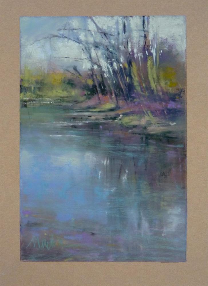 """""""Study for River's Edge"""" original fine art by Barbara Benedetti Newton"""