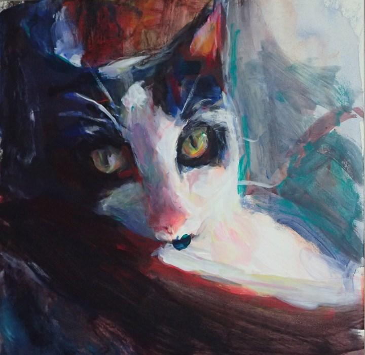 """Cookie Close Up View 2"" original fine art by Sharon Savitz"