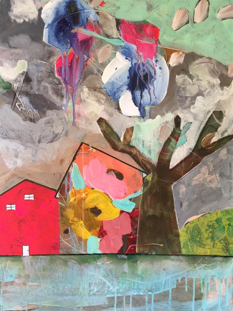 """143 Stormy Weather"" original fine art by Jenny Doh"
