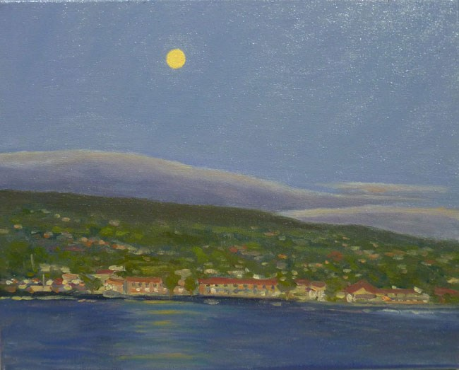 """Kona Moon"" original fine art by Stan Chraminski"