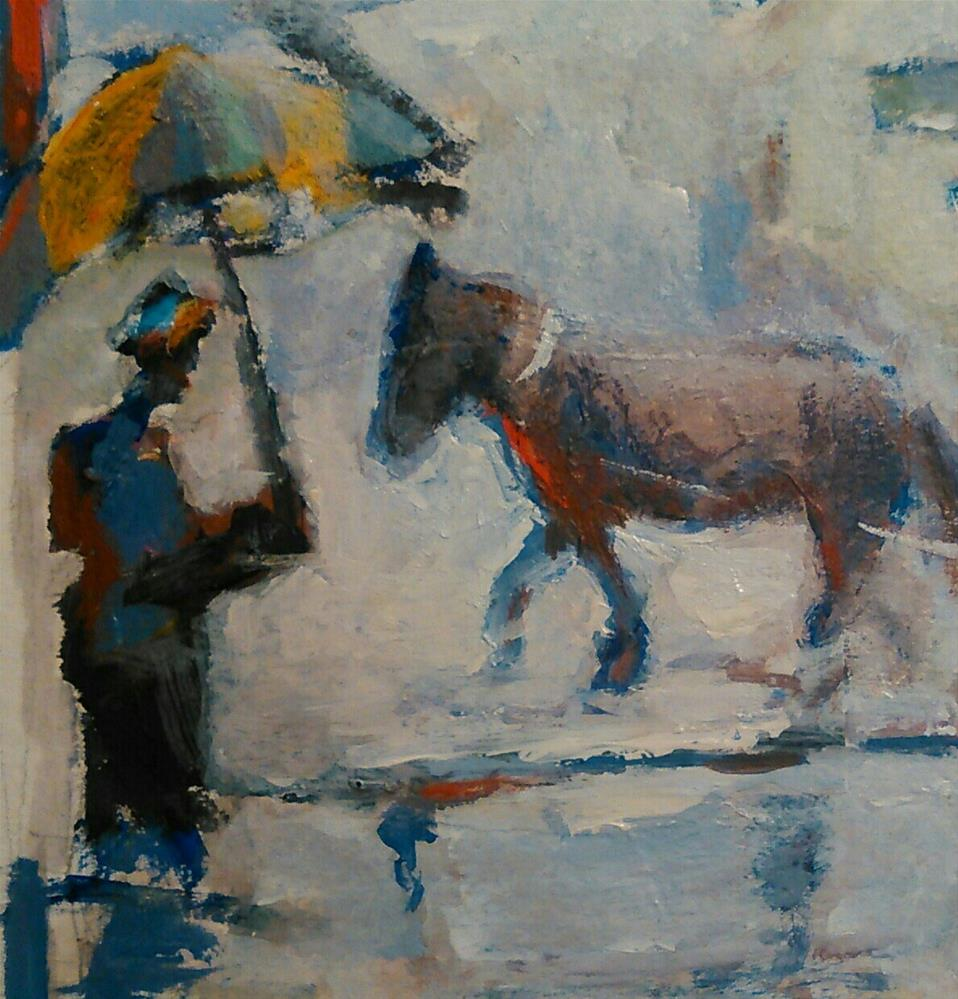 """Charleston Rain #7"" original fine art by Ann Rudd"