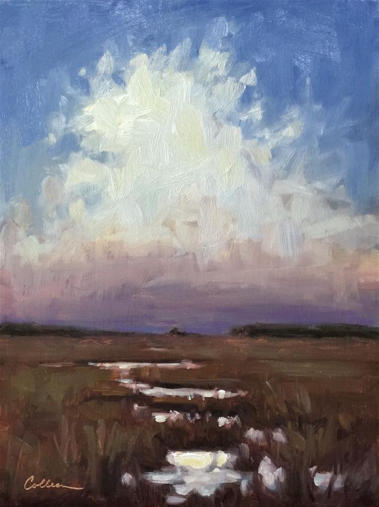"""Evening Clouds"" original fine art by Colleen Parker"