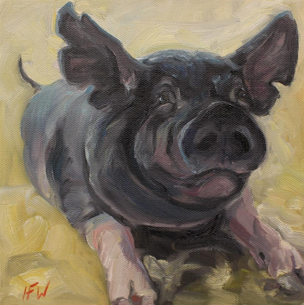 """This Little Piggy"" original fine art by H.F. Wallen"