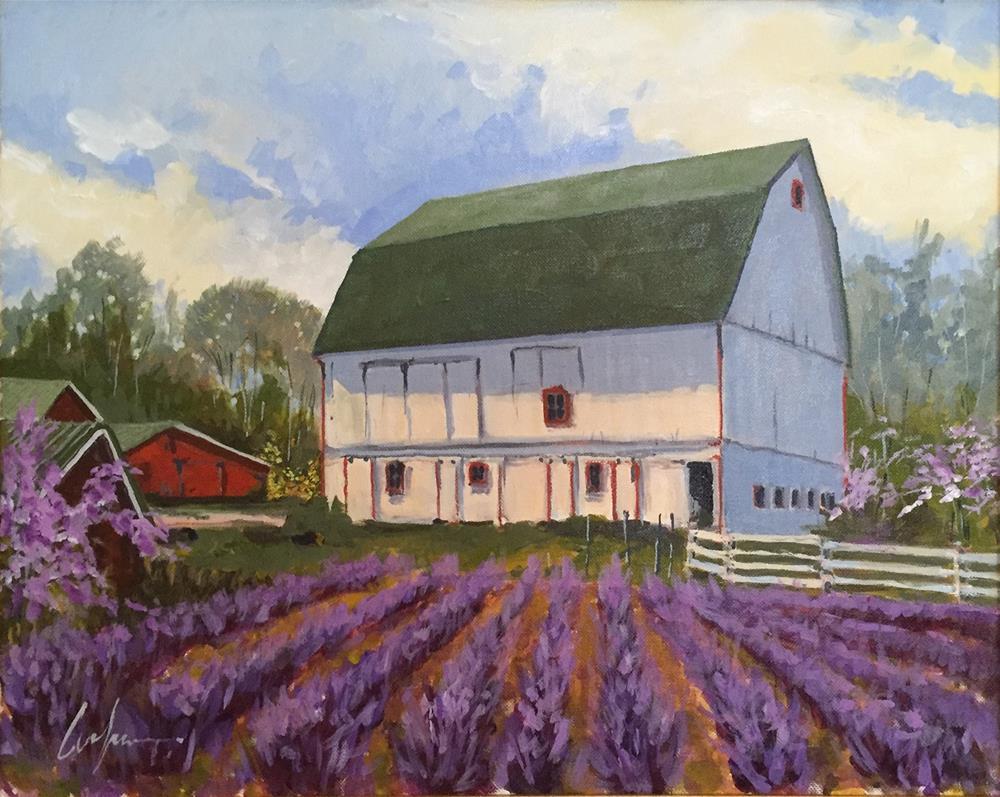 """White Oak Farm"" original fine art by Cornelis vanSpronsen"