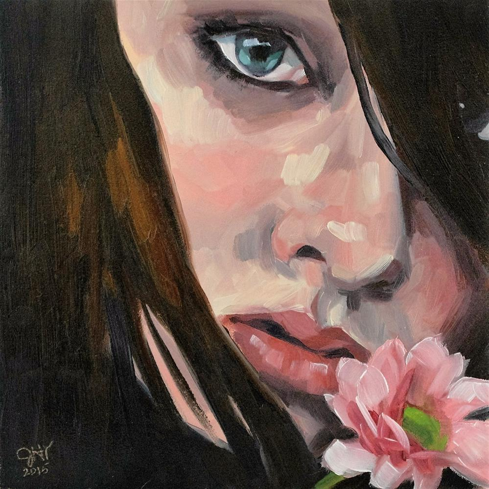 """Gerbera"" original fine art by Janette Harter"