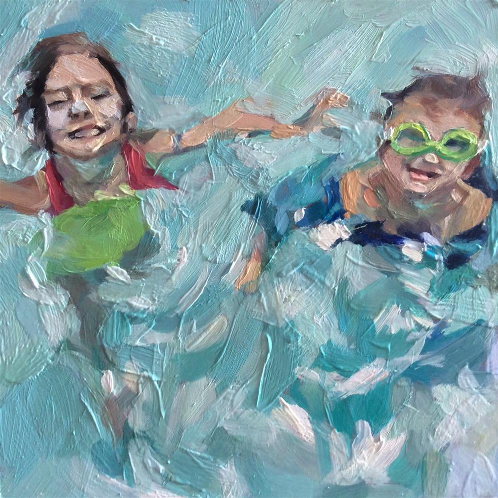 """Pool Fun"" original fine art by Paula Howson-Green"