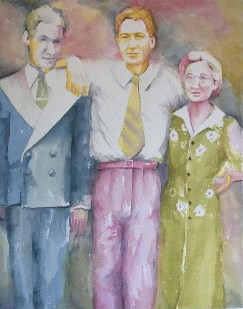 """My Dad and his Parents"" original fine art by Crisynda Buss"
