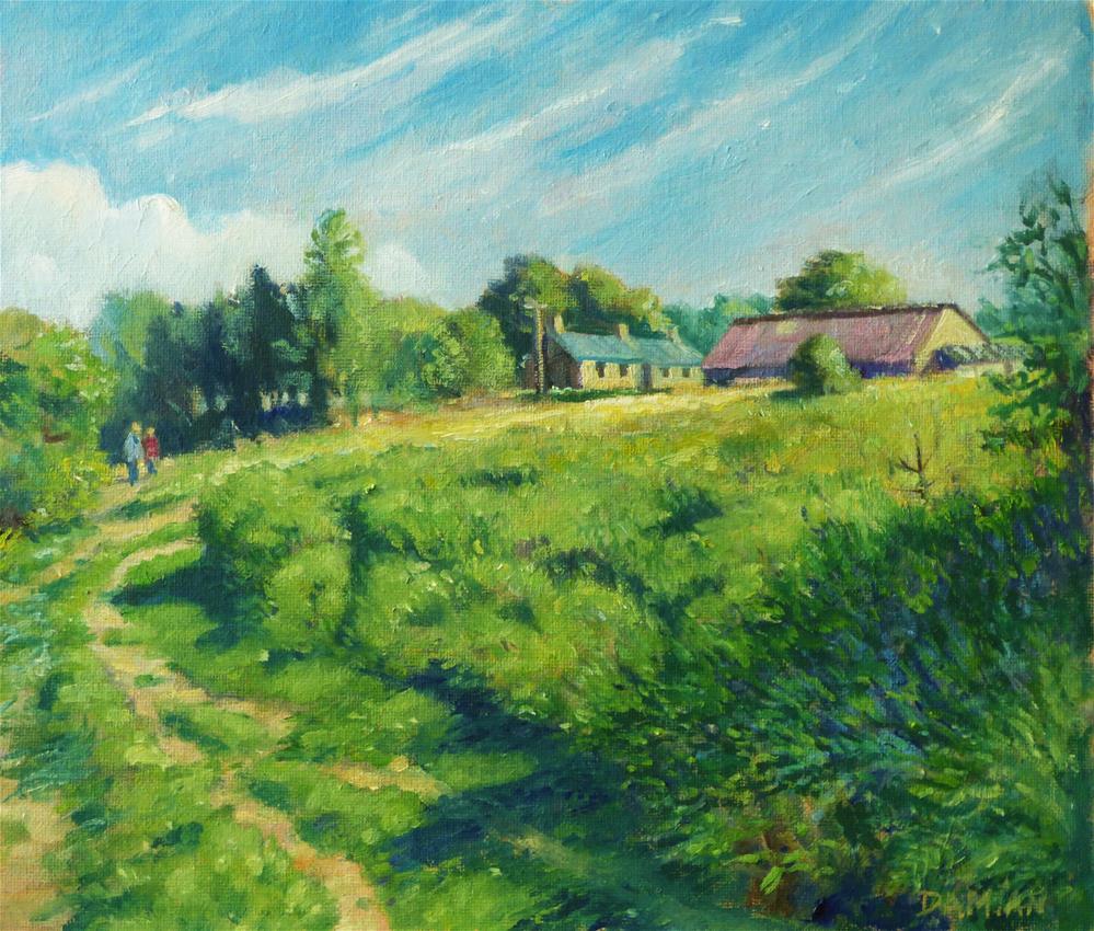 """Farnhill Moor"" original fine art by Damian Gerard Bland"