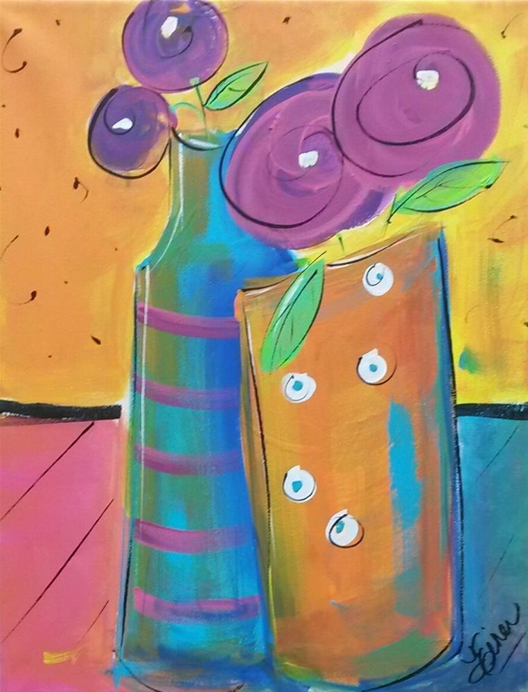 """Dance Party"" original fine art by Terri Einer"