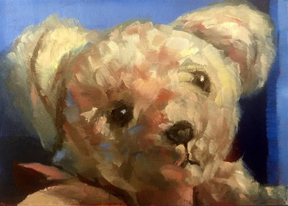 """Teddy's Portrait"" original fine art by Gary Bruton"