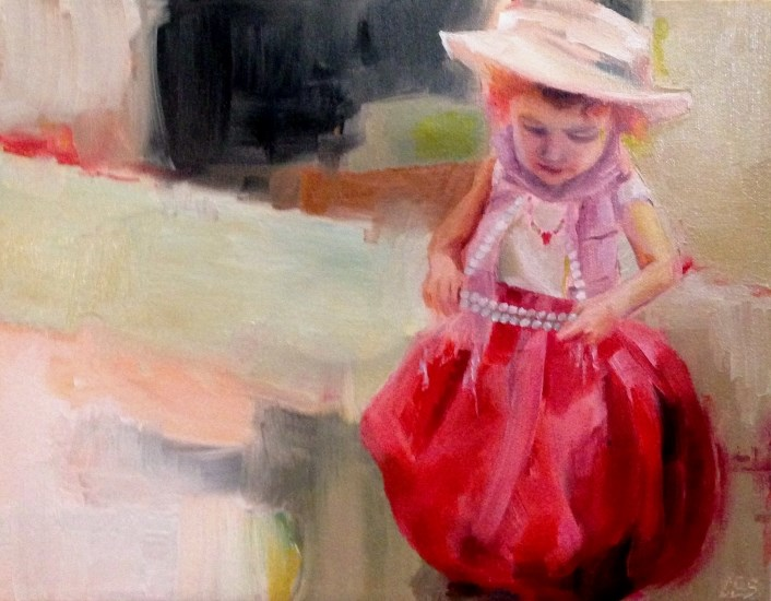 """Playing Dress Up"" original fine art by ~ces~ Christine E. S. Code"