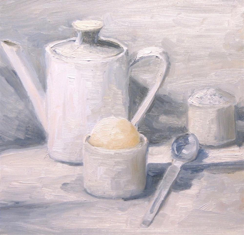 """The Color White"" original fine art by Steinunn Einarsdottir"