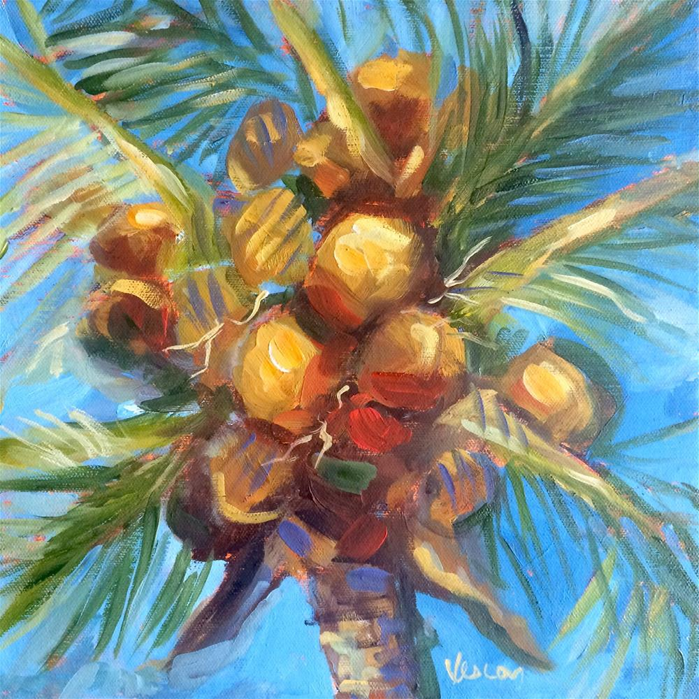 """ Coconuts 1"" original fine art by Valerie Vescovi"
