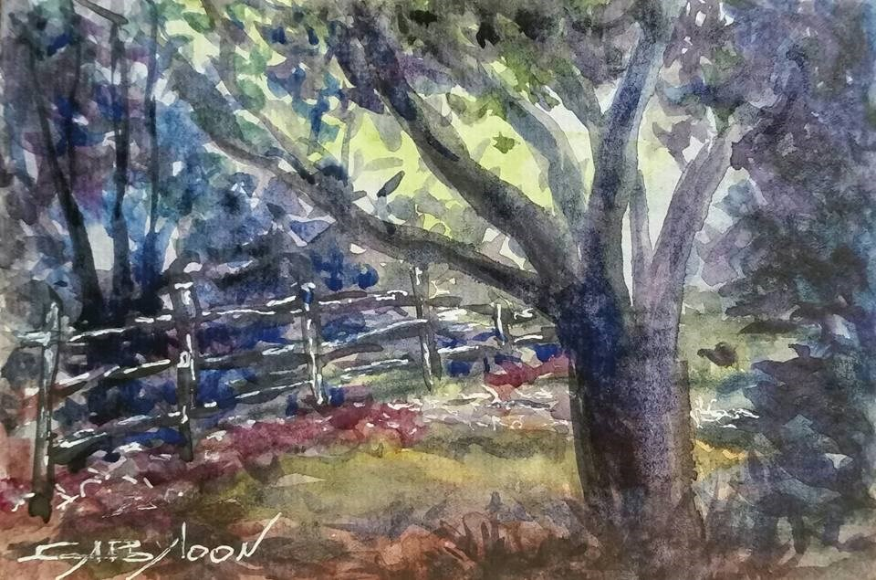 """In The Park"" original fine art by Gabriella DeLamater"