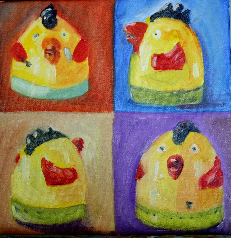 """""""Chicken Timer"""" original fine art by Maggie Flatley"""
