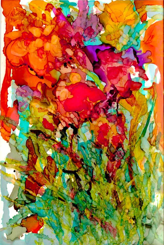 """Floral Abstract"" original fine art by Kelly Alge"