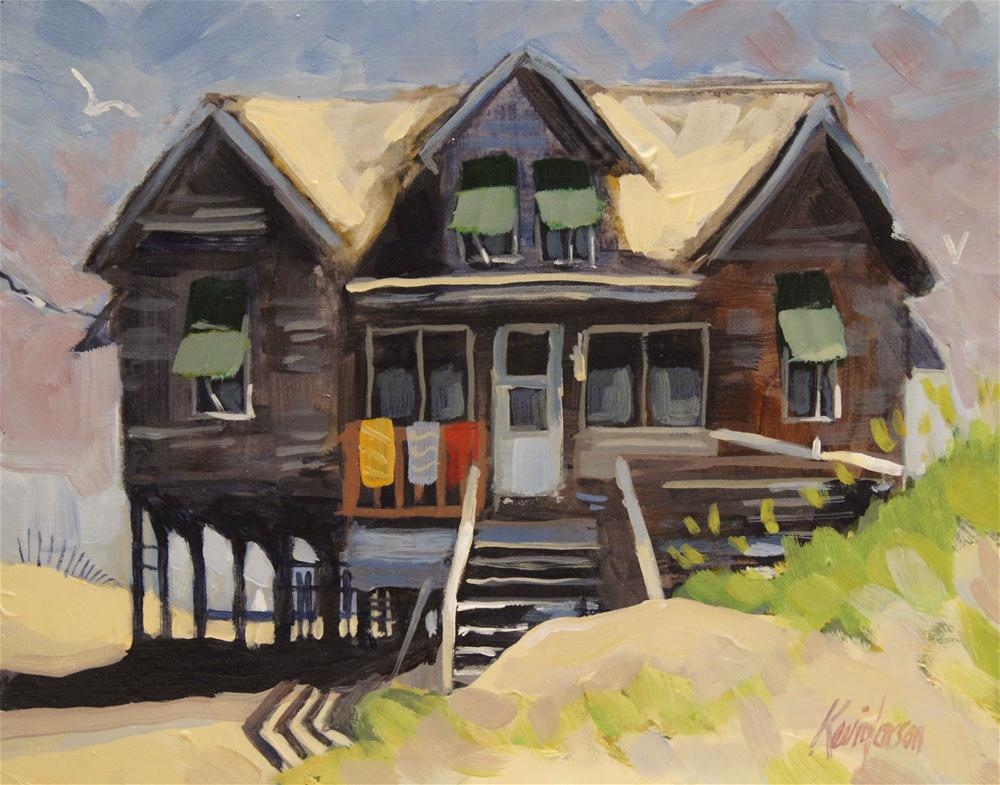 """Beach Cottage 10"" original fine art by Kevin Larson"